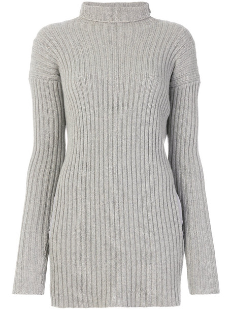Kristensen Du Nord jumper long women silk wool grey sweater