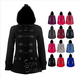 duffle coat coat