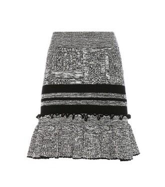 skirt knitted skirt silk wool black