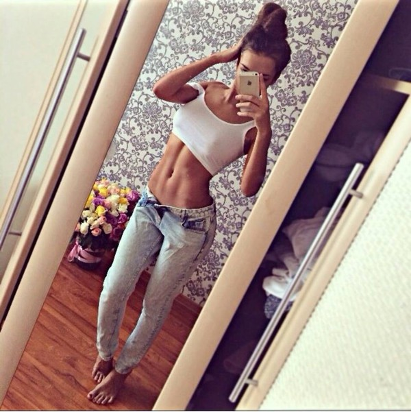 Jeans: denim, ripped jeans, fitness, low rise light wash jeans ...