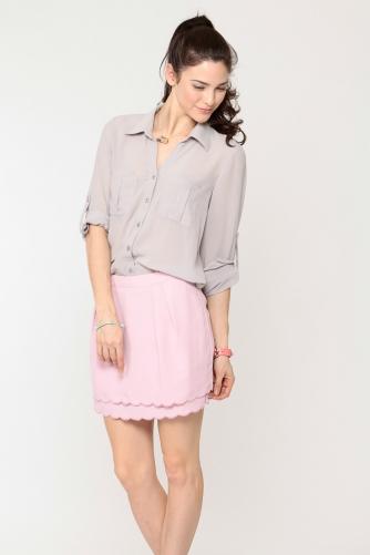 Chiffon Button Up Top @ Cicihot Top Shirt Clothing Online Store: Dress Shirt,Sexy Womens Shirt,T Shirts,Corset Dress,White T Shirt,Girl T Shirt,Short sleeve top,Sexy Shirts