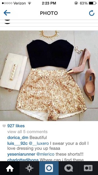 gold sequins shoes