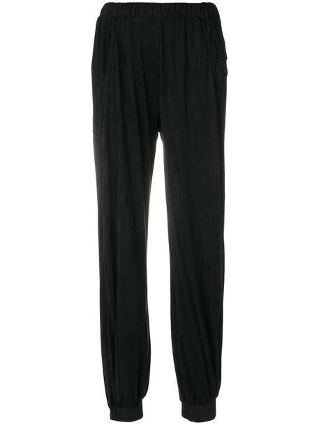 Diesel - loose fit trousers - women - Polyester/Spandex/Elastane - M, Black, Polyester/Spandex/Elastane