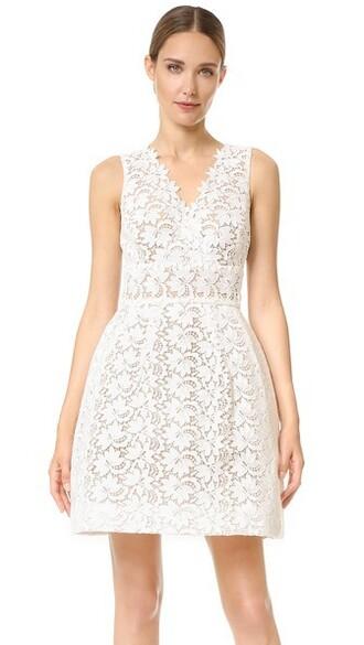 dress nude white silk