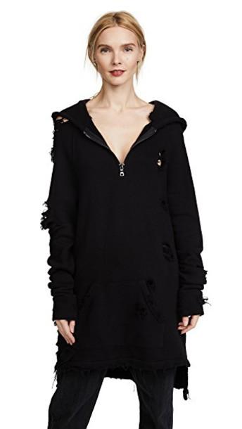 Hudson hoodie zip black sweater