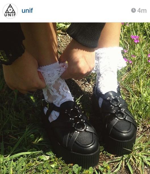 socks lace white grunge pale vintage