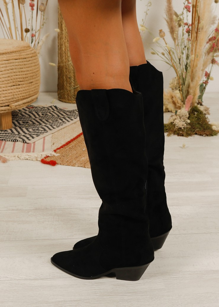 Bota alta efecto ante - The desire shop - Compra botas online