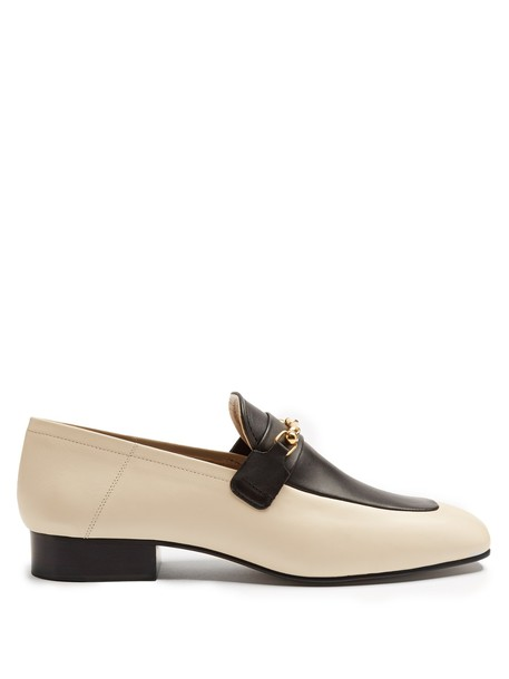 Joseph loafers leather white black shoes