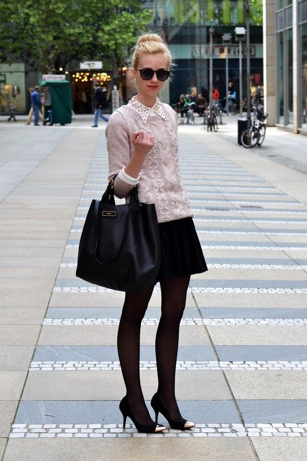 vogue haus blouse sweater skirt shoes bag sunglasses jewels