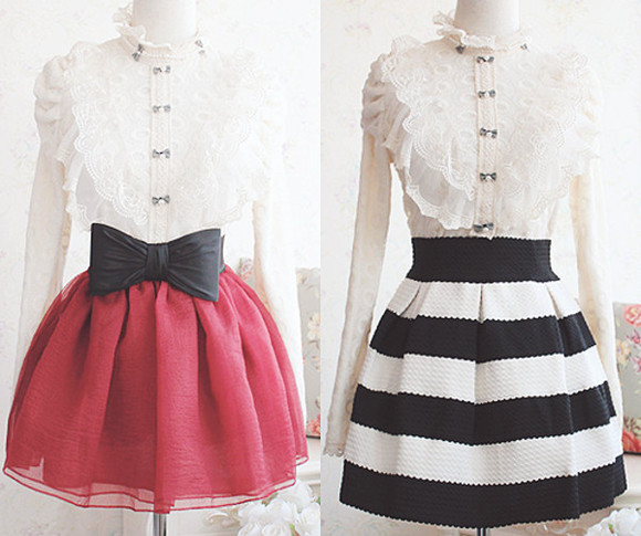 white buttons blouse mary poppins lace skirts tumblr