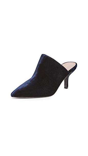 mules new navy shoes
