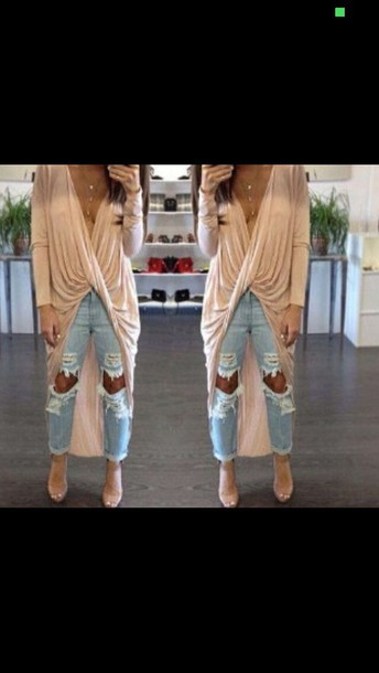 shirt style t-shirt cardigan fashion jeans pretty
