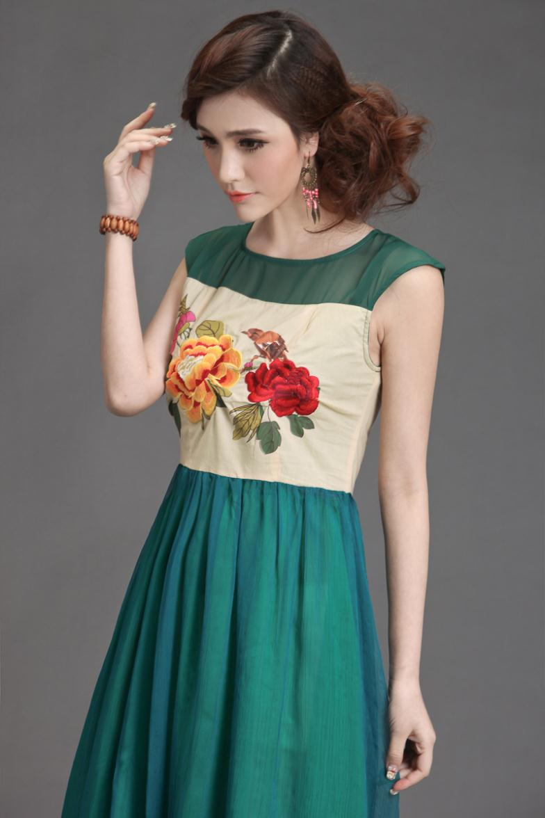 Aliexpress.com : buy original national wind short sleeved dress 2013 new summer embroidery embroidery cotton chiffon r8057 from reliable dress suppliers on panda clothing co., ltd.