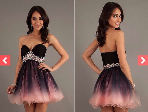 ombre dress strapless formal dress fashion formal semi formal strapless dresses fornal sparkly dress