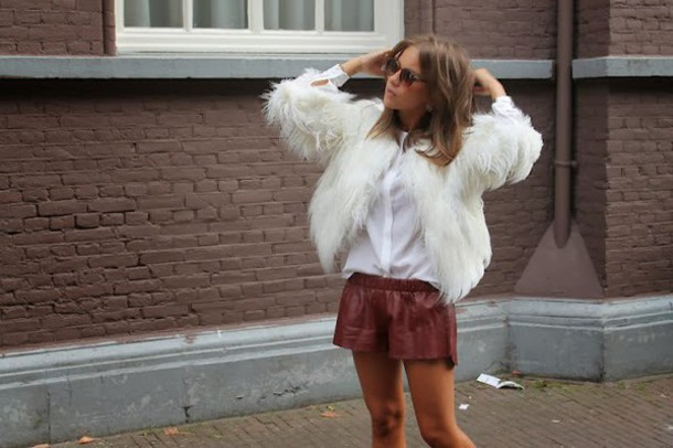 leather shorts lizzyvanderlight lizzy v d light fluffy shorts
