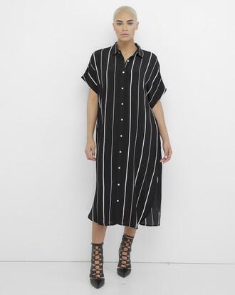 dress shirt dress striped shirt dress black black and white stripes striped dress