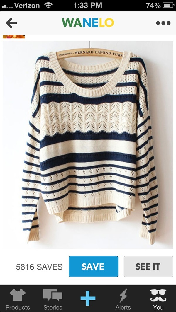 sweater stripes winter sweater