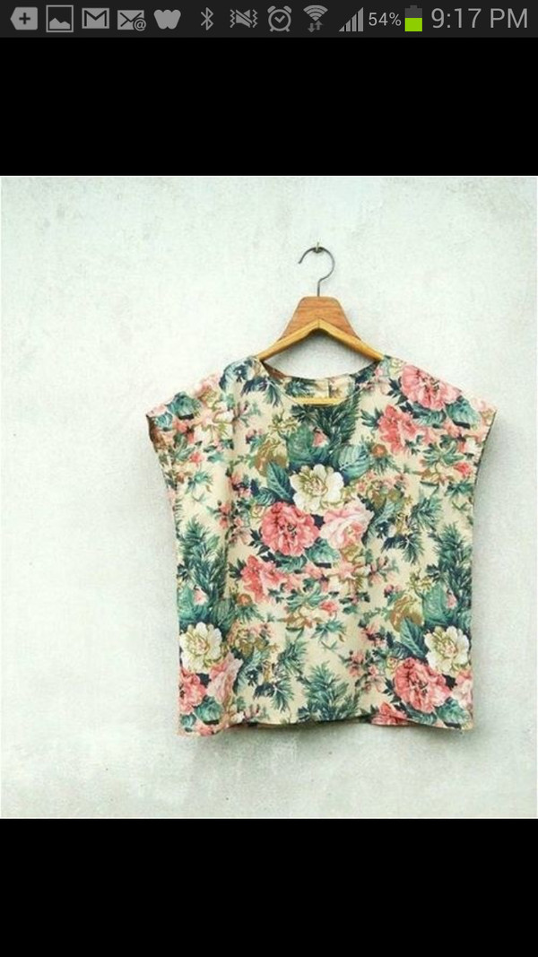 shirt mutli flowers blouse floral print tumblr simmilar floral blouse tank top flower shirt crop tops t-shirt
