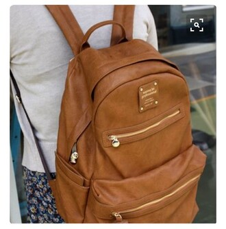 bag leather backpack tan leather backpack