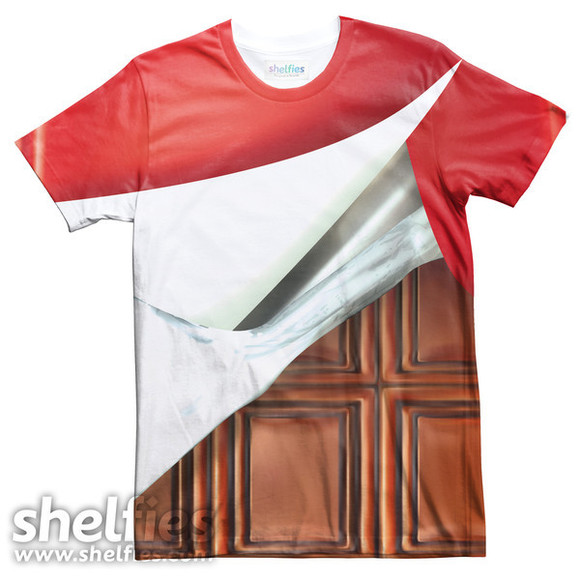 t-shirt food shelfies chocolate