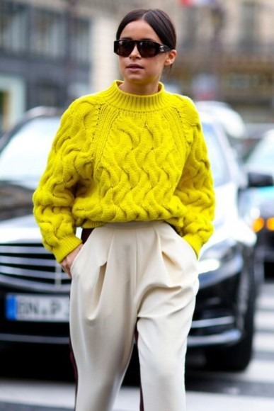 sweater sweat sweatshirt oversized sweater summer pullover yellow spring blackfashion boyfriend blog blogger pastell