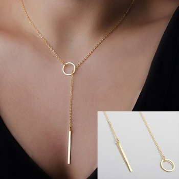 Aliexpress.com : buy 1pc stylish casual punk metal chain bar circle lariat necklace from reliable necklace yellow suppliers on online store 615902