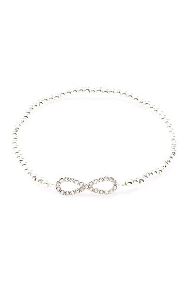 Forever infinity beaded stretch bracelet