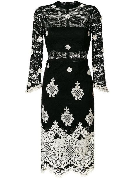 Alexis dress lace dress women spandex lace floral cotton black