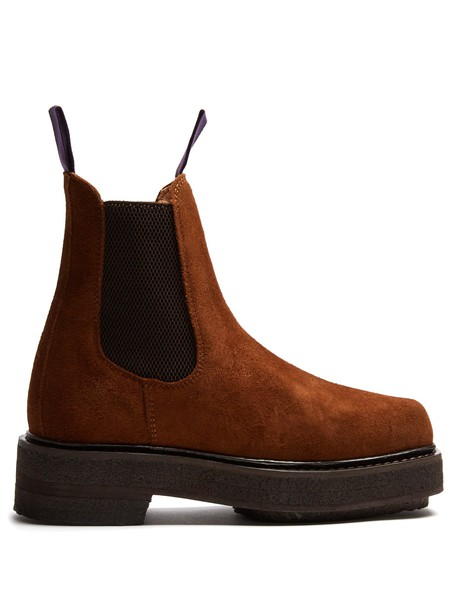 Eytys chelsea boots suede dark tan shoes