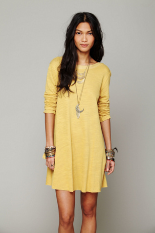 fp beach womens long sleeve swing dress