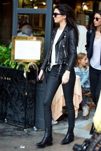 jacket eleven paris biker jacket moto black jacket 36683 leather jacket black leather jacket perfecto rock