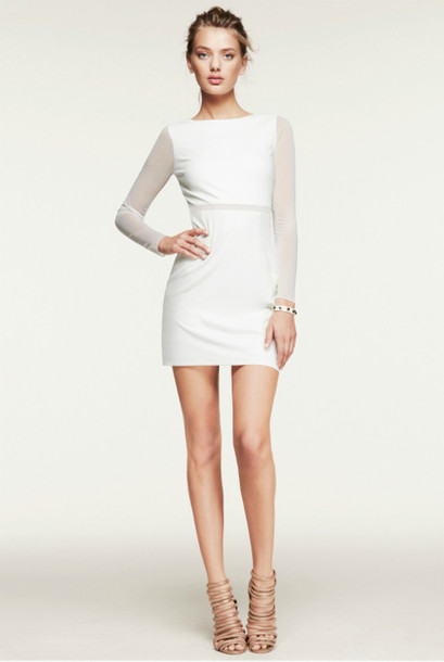 Dress: white, mini dress, white dress, transparent, designer ...