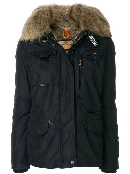 jacket fur women dog blue