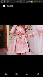 coat,jacket,pink,rosa cute,mantel coat,trench coat,winter coat,winter jacket
