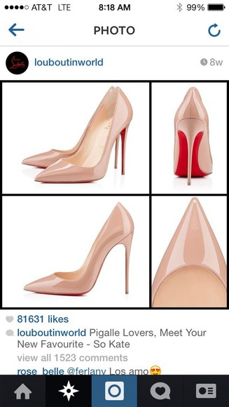 shoes pumps high heels red christian louboutin louboutins nude christian louboutin pigalle 120 patent pumps nude redbottoms heels, pumps, red, shoes, high heels, nude pumps