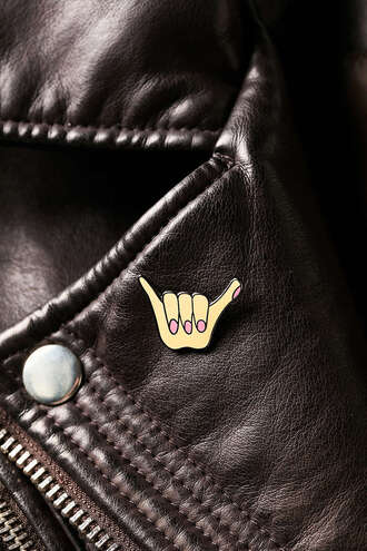 jewels pin urban outfitters badge