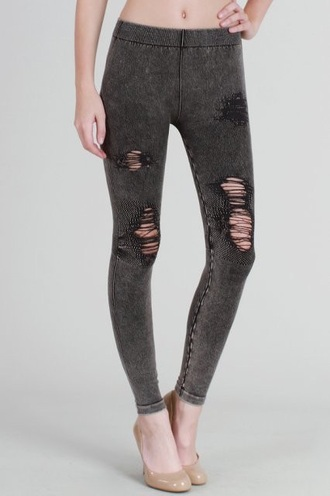 leggings jeans black ripped jeans cool trendy grey free vibrationz