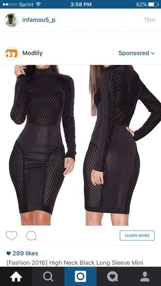 dress black dress black mesh