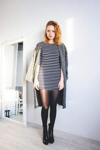 kristina magdalina blogger dress cardigan shoes