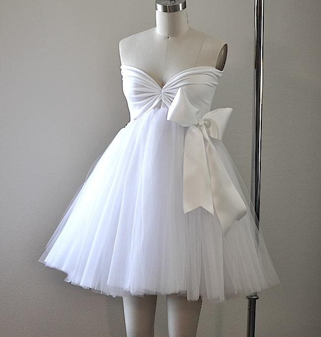 White tututulle princess dress custom