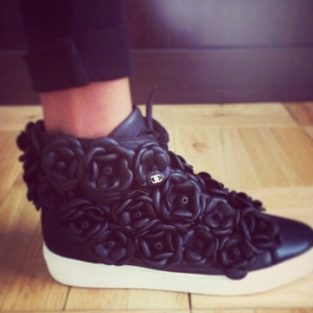 Chanel Flower Tennis Shoes
