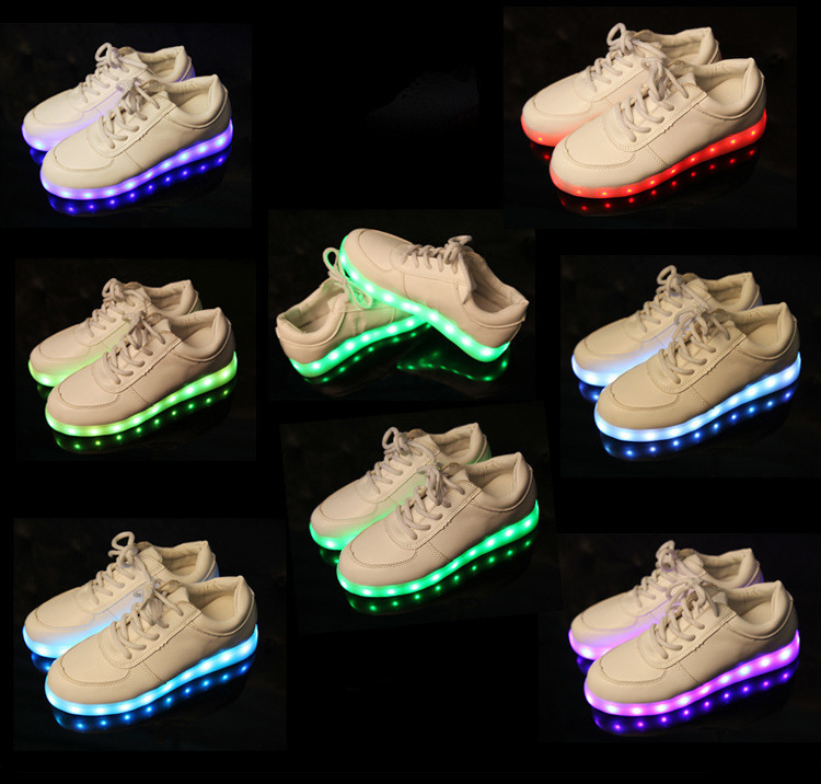 Aliexpress.com   Buy Fashion men women lighted shoes flash luminous light  up usb charge 7 colors LED light up sneakers for adults S024 from Reliable  shoe ... ebebec5e3