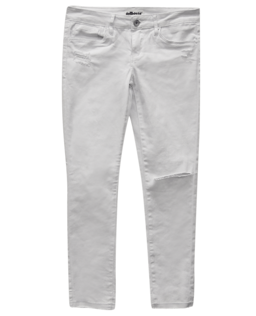 White Razor Ripped Skinny Jeans | Wet Seal