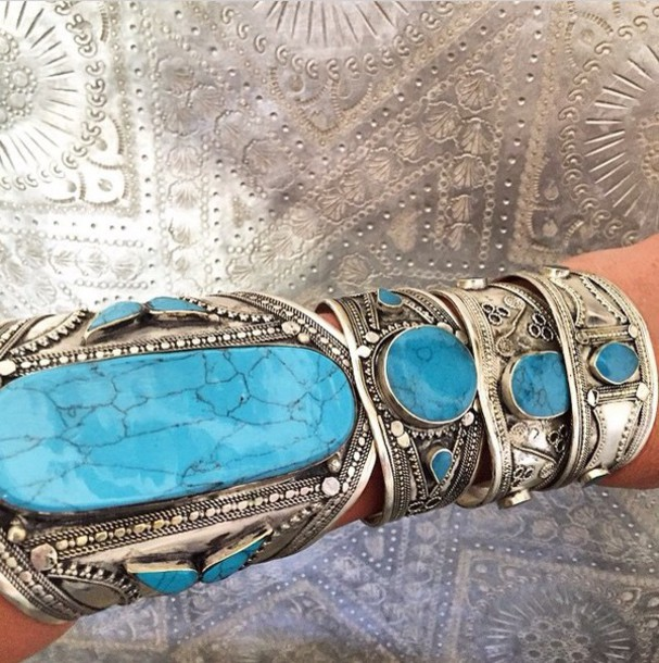 jewels turquoise jewelry turquoise tribal pattern jewelry gypsy gypsy style gypsy jewelry gypsy upper arm bracelet