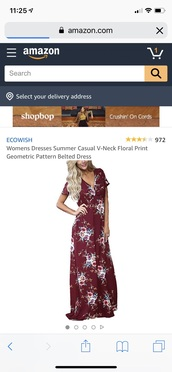dress,burgundy dress,floral,maxi dress