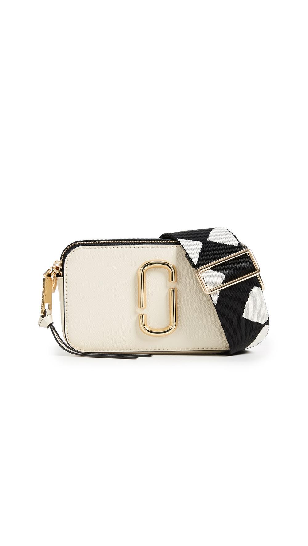 Marc Jacobs Snapshot Camera Bag in white / multi