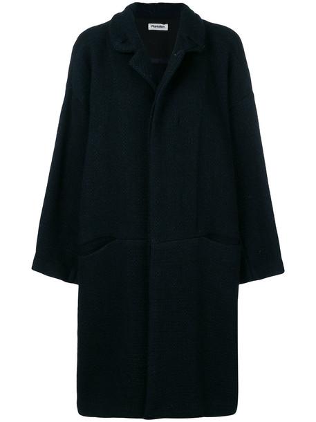 Plantation coat women cotton blue wool