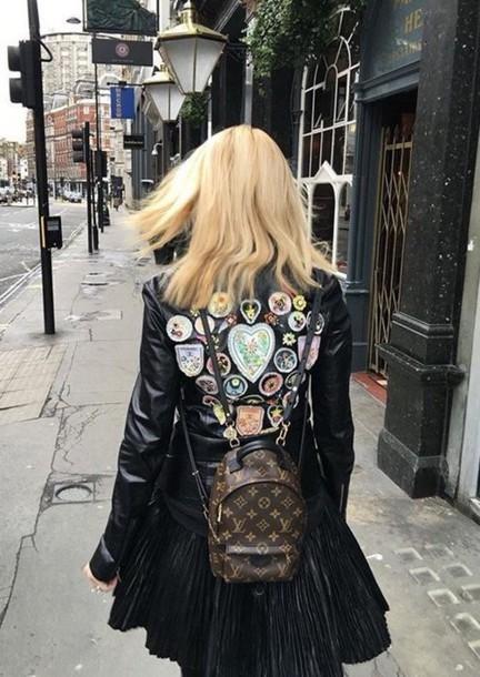 f811a9ec58e89 bag louis vuitton backpack tumblr backpack mini backpack louis vuitton  jacket black leather jacket leather jacket