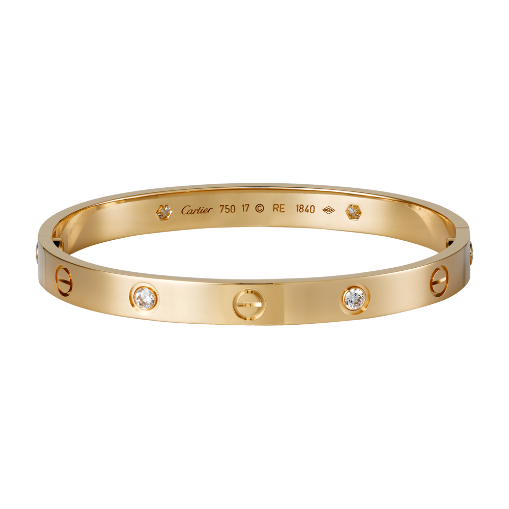 LOVE bracelet - Pink gold, diamonds - Fine Bracelets for women -  Cartier