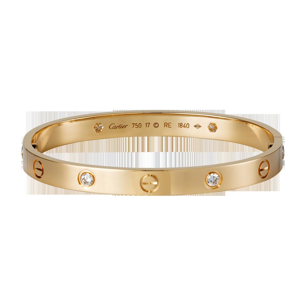 LOVE bracelet - Pink gold, diamonds - Fine Bracelets for women -  Cartier